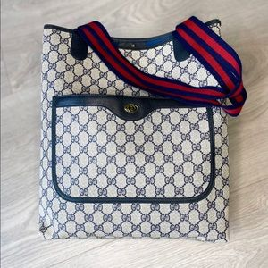 Gucci GG Canvas Sherry Line Tote Bag